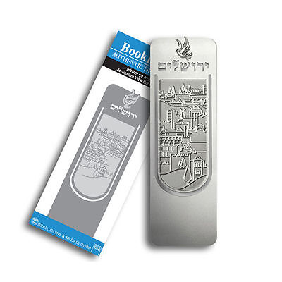 Silver Plated Jerusalem view Bookmark Memo Stationery Book Mark Reading Marks