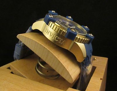 Invicta Mens Arsenal Reserve Swiss Chronograph Blue Dial/Gold Watch 11173