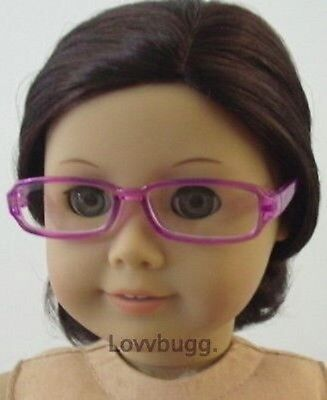 """Purple Lavender Eye Glasses for 18"""" American Girl Doll Accessory  Widest Variety"""