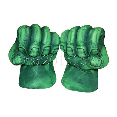 Set Incredible Hulk Smash Hands Cosplay Gloves Boxing Fists Plush Green Toy Gift