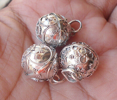 3X 925 Sterling Silver Harmony Ball Chime Pendant 12MM,,,,HB06