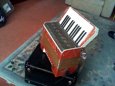 Super Vintage Matelli Accordian And Carry Case