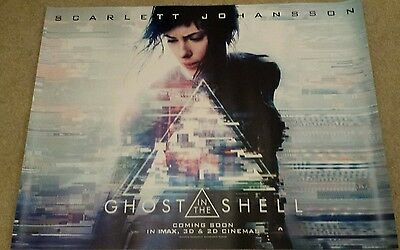 Ghost In The Shell 2017 original UK cinema quad poster