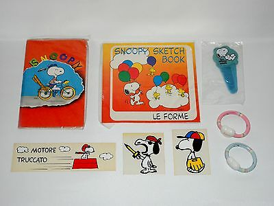 Snoopy Peanuts Lotto Misto Mixed Lot Stationary Letter Set Vintage Anni 80