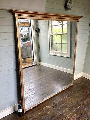 Very Large 19thc Antique Mirror Over Mantle Hallway