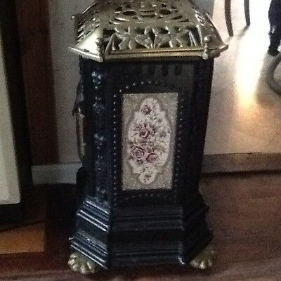 stunning antique woodburning stove/electric heater