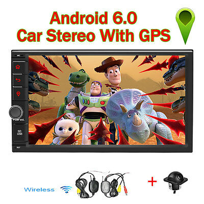 """7"""" Double 2DIN Android 6.0 Quad-Core Car GPS Stereo Radio NO DVD Player Wifi+CAM"""