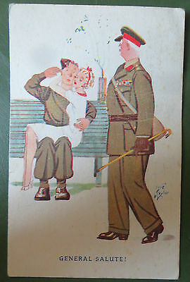 Vintage Postcard, Artist Signed Laurie Tayler, Military WW2