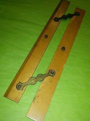 vintage technical drawing parallel line aid. Wooden brass