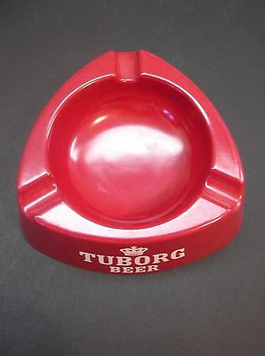 Tuborg Beer Ashtray Made in Italy Vintage Home Bar Pub Man Cave