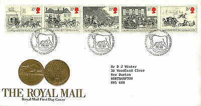 31 July 1984 Royal Mail Coaches Royal Mail First Day Cover Bureau Shs
