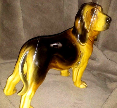 """Bloodhound Ornament Figurine (fairly large) app. 8"""" long 8"""" high"""