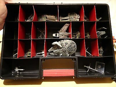 X wing miniatures game, bulk lot, 24 models including cards tokens counters