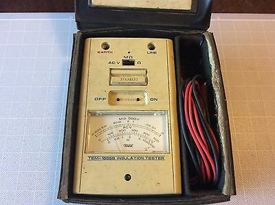 Tmk Insulation Tester & Case Model Tem-1555B Leads Instructions Services Use