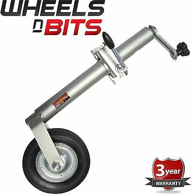 Heavy duty 20cm jockey wheel & clamp 160Kg Trailer Caravan 570-840mm Adjustable