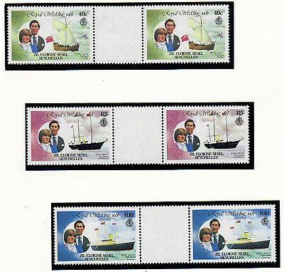 Zil Eloigne Sesel 1981 Royal Wedding Set In Gutter Pairs Mnh