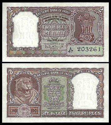 India 2 RUPEES Sign 75 First serie P 30 UNC