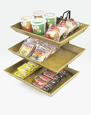 Cal-Mil Wire 3 Tier Bamboo Stand