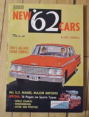 1962 New '62 Cars Guide Book US and Import 160 Pages