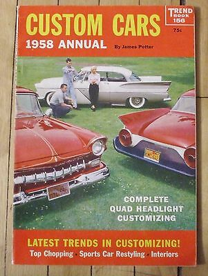 1958 Trend Book No. 156 Custom Cars 1958 Annual 128 Pages