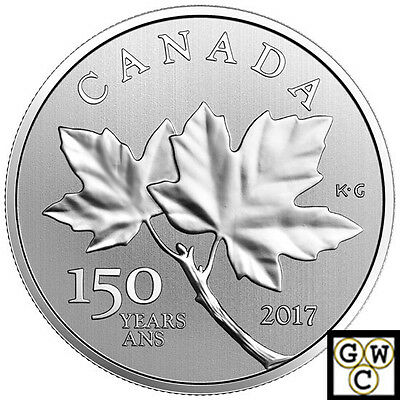 2017' 150 Years Maple Leaves' Specimen $10 Silver Coin 1/2oz .9999 fine(17978)NT