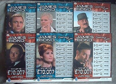 James Bond Quantum Of Solace Obsolete Lottery Cards 2008 6 Different Characters