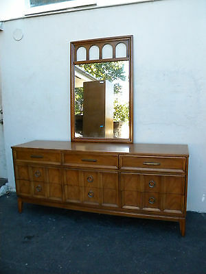 Mid-Century Dresser with Mirror by Dixie 3219