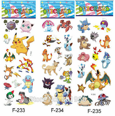 10 x POKEMON  Stickers Party Bag Fillers Birthday party favours, games