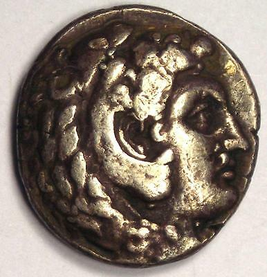 Alexander the Great III AR Drachm Coin 336-323 BC - Very Fine Details (VF)!