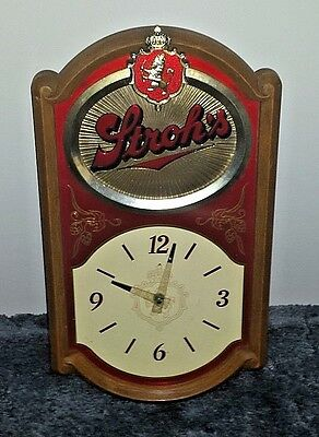 Vintage Stroh's Beer Clock Free Shipping