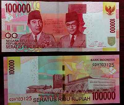 Indonesia Money 100,000 (100000) Rupiah Notes Uncirculated 2014 Emission