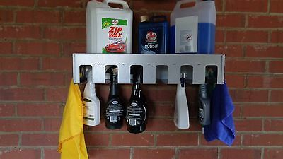 12 SPRAY BOTTLE HOLDER  (valeting, garage, workshop,car cleaning, van storage)