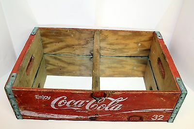 Vintage Coke Coca Cola Wood Crate Caddie Display Box with Mirrors Circa 1970