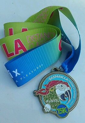2017 Gasparilla Distance 15k Classic Race Finisher Medal Ribbon Tampa FL Olympic