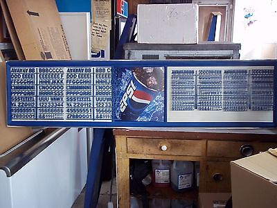 6ft Pepsi-Cola Menu Board Sign w/4 sets of letters & numbers!.