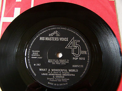 Louis Armstrong - What A Wonderful World / Cabaret ** Ex