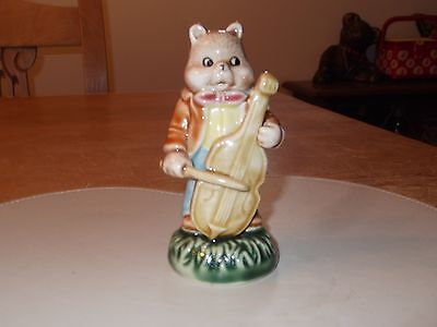 Vintage Hey Diddle Diddle Cat & Fiddle Ceramic Ornament by WV