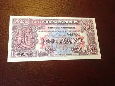 1 British Armed Forces banknote UNC
