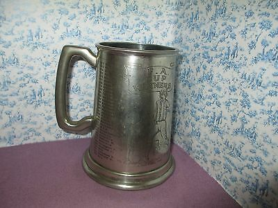 F.A  Cup Winners  pewter tankard finest English pewter sheffield 1872 - 1972