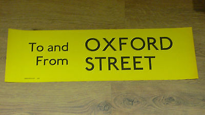 London Transport Routemaster Bus Slipboard Poster - TO AND FROM OXFORD STREET