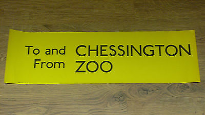 London Transport Routemaster Bus Slipboard Poster - TO AND FROM CHESSINGTON ZOO