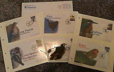 """Westminster stamps set 1st day of issue """"Birds"""" Kingstown St Vincent 1997"""