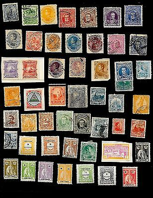 Central & South America - Collection Of 123 Very Old Stamps