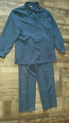 Ladies Vintage 80-90s Outfit Trouser and Shirt Size 16