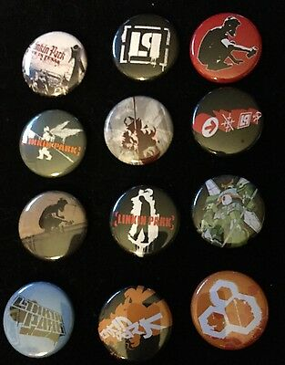 Vintage Linkin Park (the Band) 12 Badges MINT NEW From Record Label Directly
