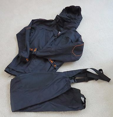 Harley-Davidson Rain Suit Large - Hooded Jacket and Pants Black New