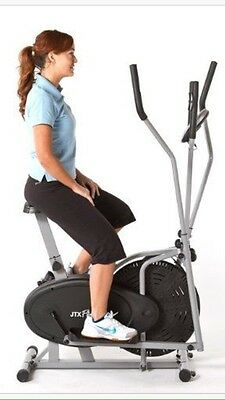 JTX Fitness 2 in 1 Elliptical Cross Trainer Exercise Bike Workout/Gym/Cardio