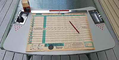 Vintage Amf Bowling Alley Scoring Table 1960's complete with ashtrays MINT