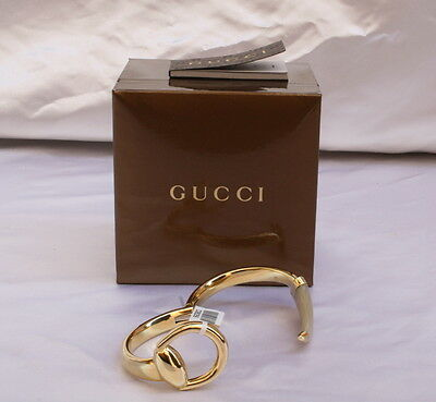 21ce497bcc8 MAGNIFICENT BRAND NEW Gucci 18K Gold Agate Bracelet With Boxes ...
