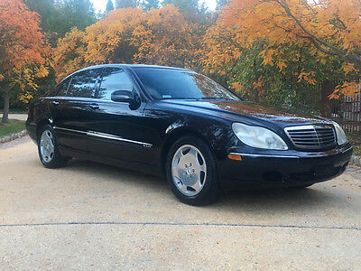2001 Mercedes-Benz S-Class Base Sedan 4-Door 600 80k low mile warranty free shipping 2 owner clean carfax v12 exotic rare